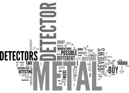 BEFORE YOU BUY A METAL DETECTOR TEXT WORD CLOUD CONCEPT