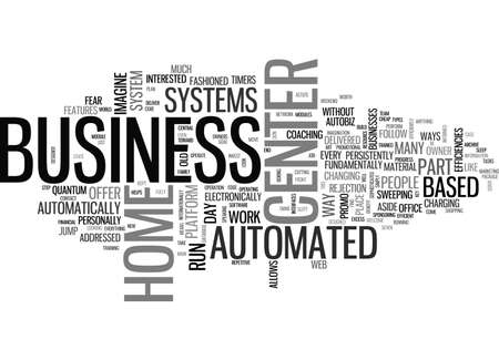 cloud based: AUTOMATED BUSINESS CENTER SYSTEMS TEXT WORD CLOUD CONCEPT