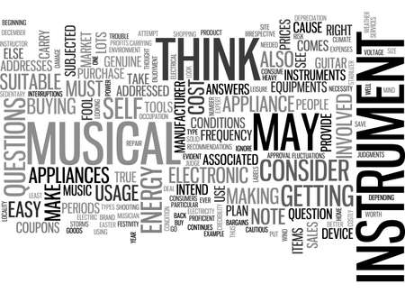 BEFORE YOU BUY A MUSICAL INSTRUMENT TEXT WORD CLOUD CONCEPT