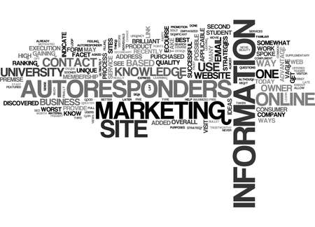 discovered: AUTORESPONDERS AN ONLINE UNIVERSITY TEXT WORD CLOUD CONCEPT