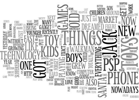 psp: ARE TOYS FOR MEN OR FOR BOYS TEXT WORD CLOUD CONCEPT Illustration