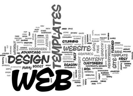 ARE WEB TEMPLATES AIMED TO EXTERMINATE THE WEB STARS TEXT WORD CLOUD CONCEPT