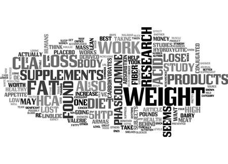 ARE WEIGHT LOSS SUPPLEMENTS WORTH IT TEXT WORD CLOUD CONCEPT Ilustração