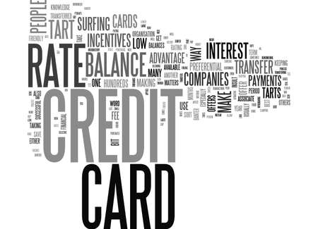 ARE YOU A CREDIT CARD TART TEXT WORD CLOUD CONCEPT Ilustrace