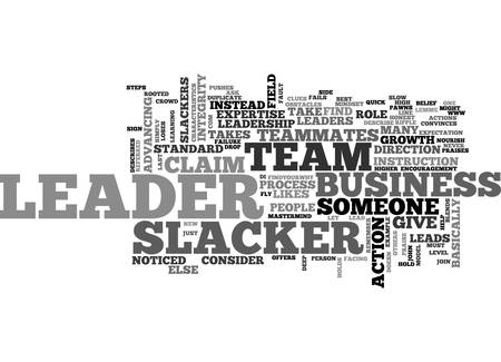 ARE YOU A LEADER OR A SLACKER TEXT WORD CLOUD CONCEPT