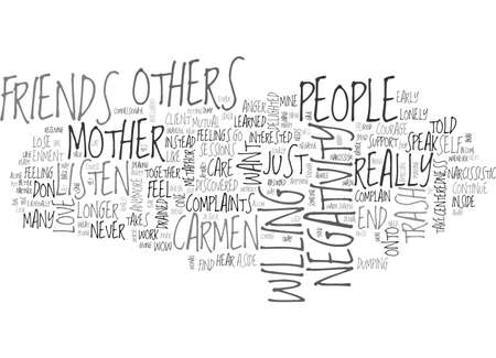told: ARE YOU A TRASH CAN FOR OTHERS NEGATIVITY TEXT WORD CLOUD CONCEPT
