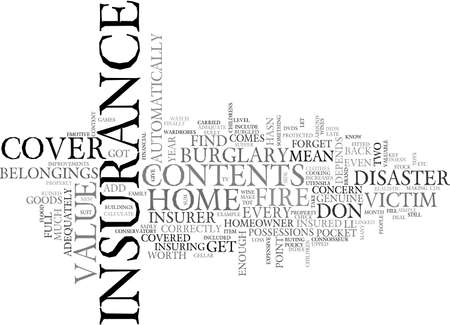 ARE YOU ADEQUATELY COVERED TEXT WORD CLOUD CONCEPT Illustration