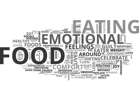 potluck: ARE YOU AN EMOTIAL EATER TEXT WORD CLOUD CONCEPT