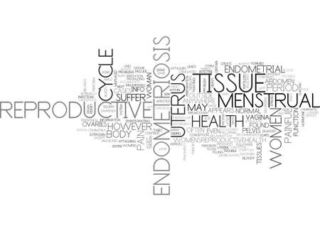 ARE YOU AWARE THAT YOU SUFFER FROM ENDOMETRIOSIS TEXT WORD CLOUD CONCEPT Illustration
