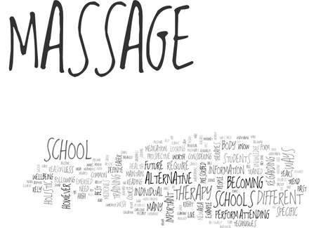 ARE YOU CUT OUT FOR MASSAGE SCHOOL TEXT WORD CLOUD CONCEPT