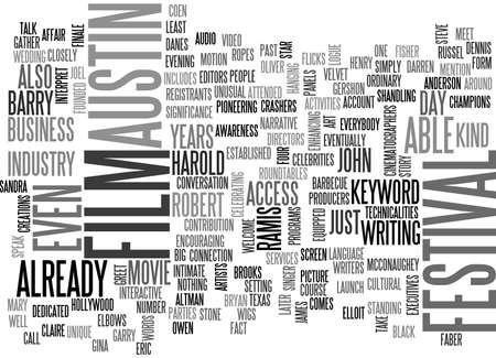recognizes: AUSTIN FILM FESTIVAL TEXT WORD CLOUD CONCEPT