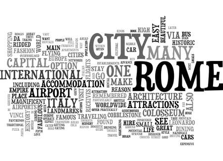 A TOURIST GUIDE TO ROME TEXT WORD CLOUD CONCEPT