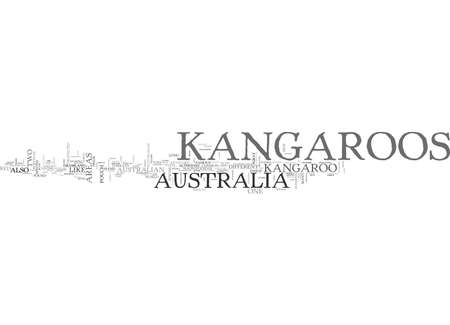 AUSTRALIA KANGAROOS TEXT WORD CLOUD CONCEPT 向量圖像