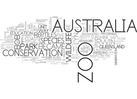 AUSTRALIA ZOO TEXT WORD CLOUD CONCEPT 向量圖像