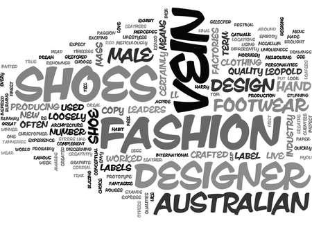 AUSTRALIAN DESIGNER SHOES TEXT WORD CLOUD CONCEPT
