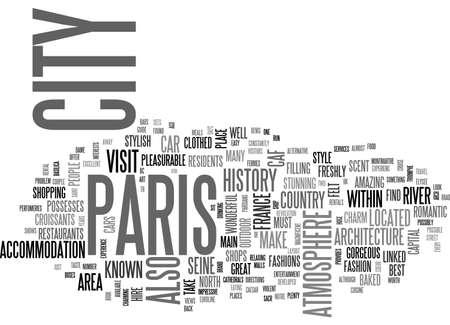 Una guida di viaggio al concetto di nube di parola di testo di Parigi Archivio Fotografico - 79495411