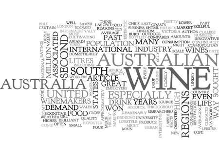 AUSTRALIAN WINES TEXT WORD CLOUD CONCEPT