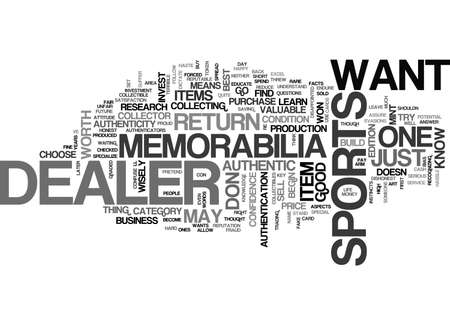 AUTHENTIC SPORTS MEMORABILIA TEXT WORD CLOUD CONCEPT