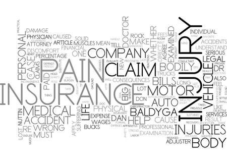 自動保険請求けが洞察力テキスト単語雲概念