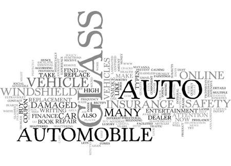 AUTO GLASS FOR YOUR VEHICLE TEXT WORD CLOUD CONCEPT 向量圖像