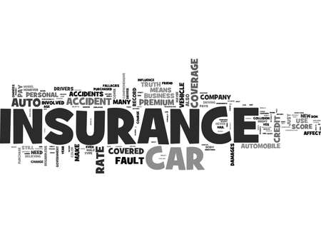 AUTO INSURANCE MYTHS YOU SHOULD KNOW ABOUT TEXT WORD CLOUD CONCEPT