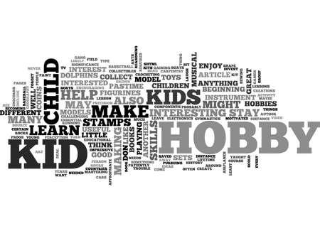 A wealth of kid hobby ideas text word cloud concept