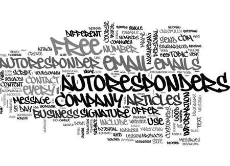 AUTORESPONDERS EXPLAINED TEXT WORD CLOUD CONCEPT