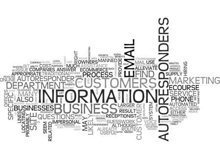 AUTORESPONDERS THE POWER OF INSTANCE ACCESS TEXT WORD CLOUD CONCEPT Çizim