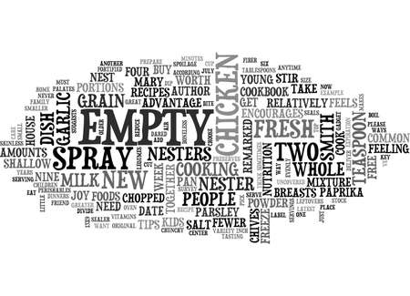 A WEEK S WORTH OF TIPS FOR EMPTY NESTERS TEXT WORD CLOUD CONCEPT