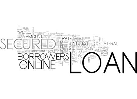 AVAIL CHEAPER HURDLE FREE FINANCE THROUGH ONLINE SECURED LOAN TEXT WORD CLOUD CONCEPT Ilustrace
