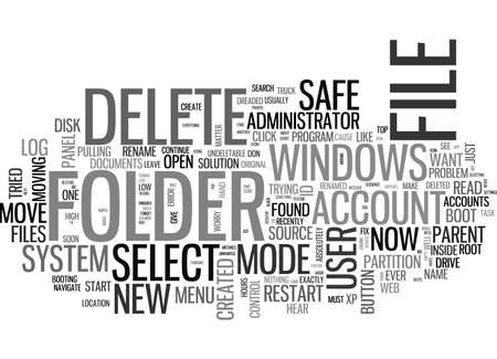 A WHITE PAPER ON CANNOT DELETE FILE CANNOT READ FROM THE SOURCE FILE OR DISK TEXT WORD CLOUD CONCEPT Illustration