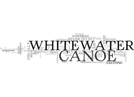 implies: A WHITEWATER CANOE BUY OR RENT TEXT WORD CLOUD CONCEPT