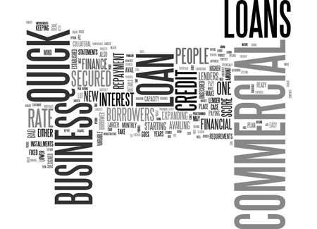AVAIL READY FINANCE FOR BUSINESS THROUGH QUICK COMMERCIAL LOANS TEXT WORD CLOUD CONCEPT