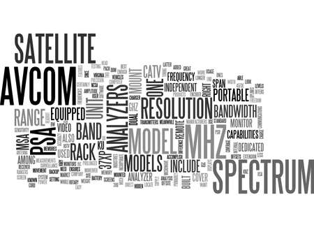 AVCOM THE BEST IN THE MARKET TEXT WORD CLOUD CONCEPT Illustration