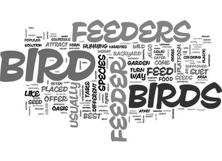 A Z OF BIRD FEEDERS TEXT WORD CLOUD CONCEPT