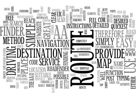 AA ROADFINDER TEXT WORD CLOUD CONCEPT