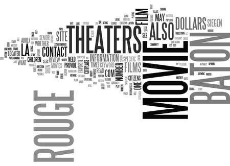 BATON ROUGE MOVIE THEATERS TEXT WORD CLOUD CONCEPT