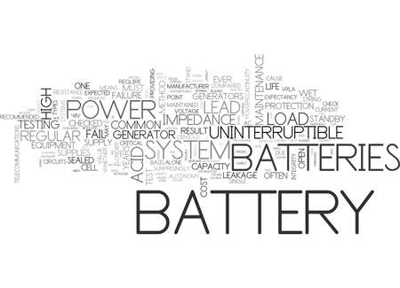 BATTERY MAINTENANCE TEXT WORD CLOUD CONCEPT