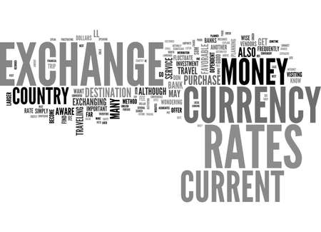 BE AWARE OF THE EXCHANGE RATES WHEN YOU TRAVEL TEXT WORD CLOUD CONCEPT