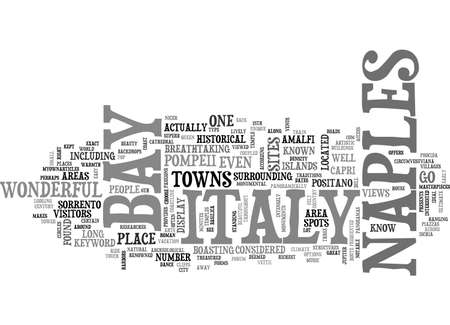 BAY OF NAPLES ITALY TEXT WORD CLOUD CONCEPT