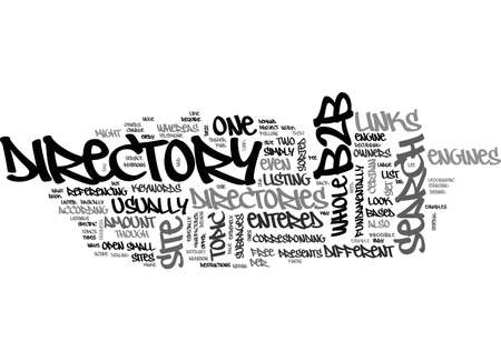 entered: BB DIRECTORY TEXT WORD CLOUD CONCEPT Illustration