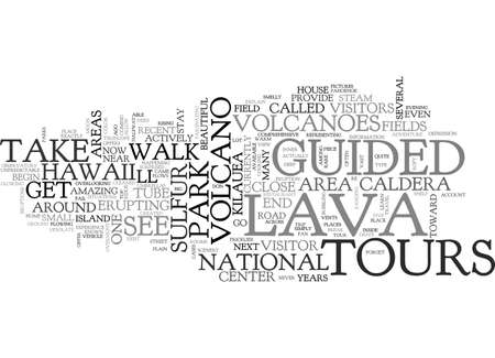 BBE AMAZED BY GUIDED TOURS OF HAWAII TEXT WORD CLOUD CONCEPT Illusztráció