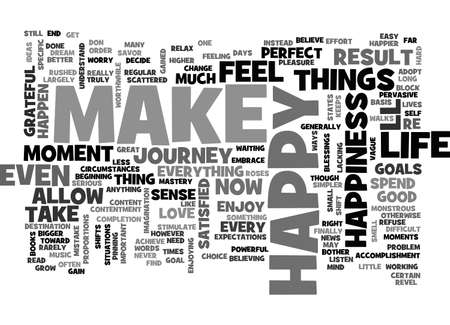 refuse: BE HAPPY NOW TEXT WORD CLOUD CONCEPT