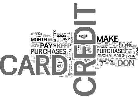 BE PREPARED WHEN YOU APPLY FOR A CREDIT CARD TEXT WORD CLOUD CONCEPT 向量圖像