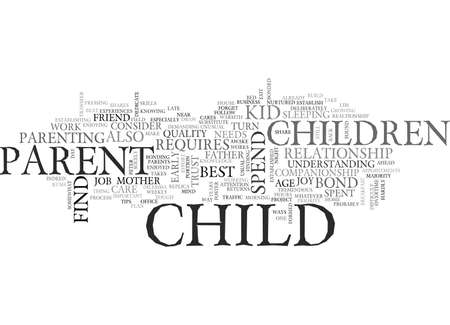 BE THERE FOR YOUR KID TEXT WORD CLOUD CONCEPT