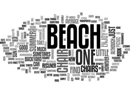 sipping: BEACH CHAIR TEXT WORD CLOUD CONCEPT