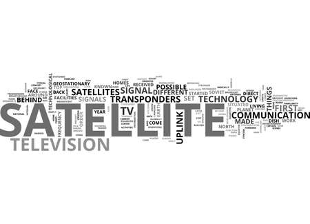 BEHIND SATELLITE TV TEXT WORD CLOUD CONCEPT