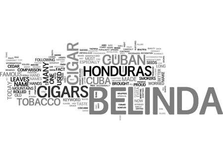 BELINDA CIGARS TEXT WORD CLOUD CONCEPT Ilustrace