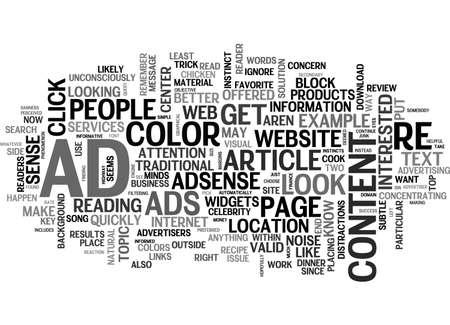 テキストの単語の概念はクラウドで動作するアドセンス  イラスト・ベクター素材