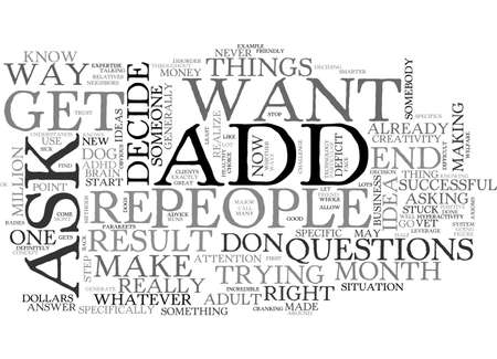 ADULT ADD WHO DO YOU TRUST TEXT WORD CLOUD CONCEPT